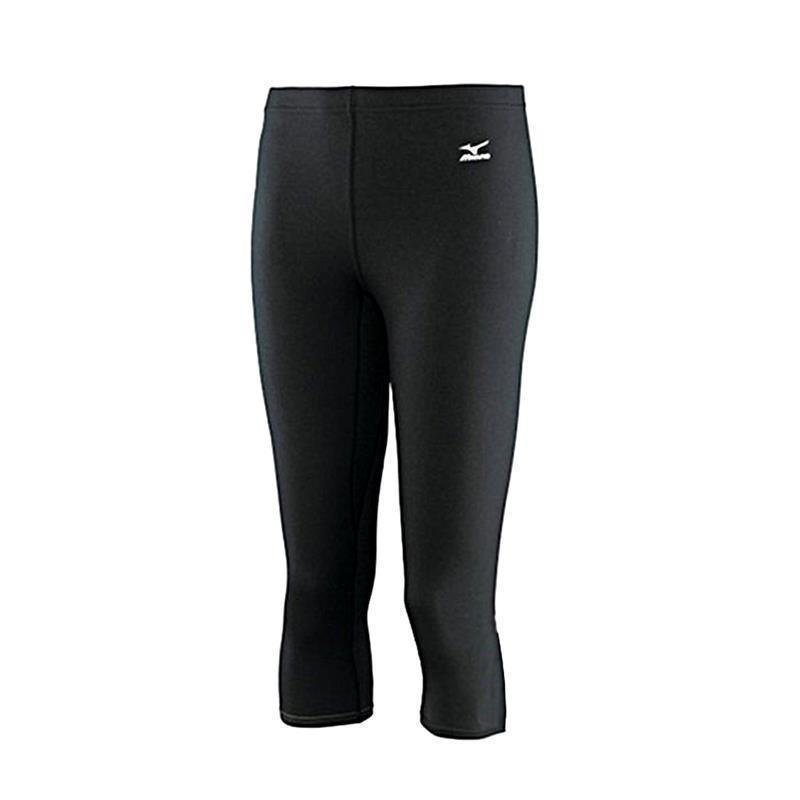 Mizuno Breath Thermo Hose Damen Middle Weight 3/4 Tight | schwarz L