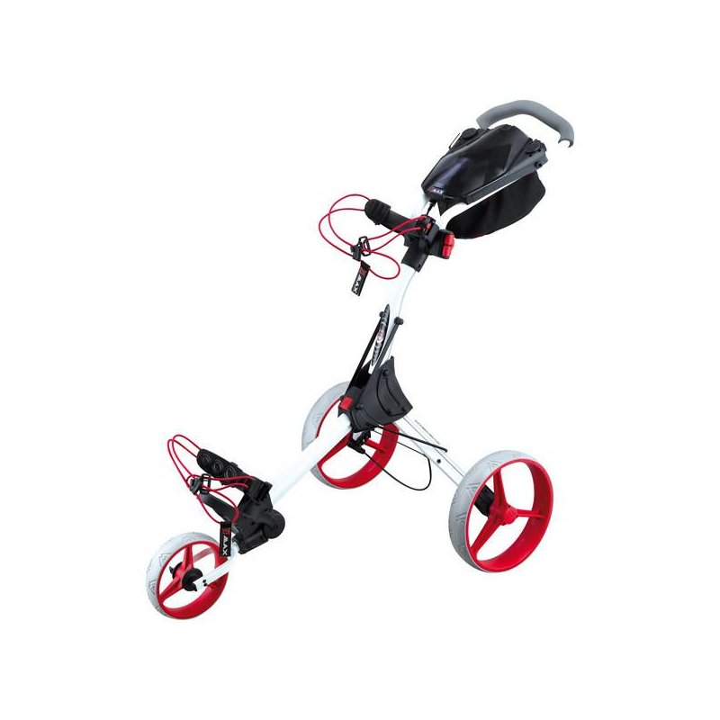 Big Max IQ+ Golf-Trolley 3-Rad | weiß-rot