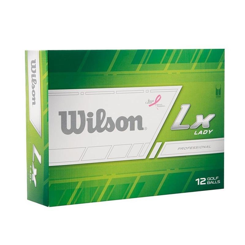 Wilson Lx Lady Professional Distance Golfbälle / 12x Weiß