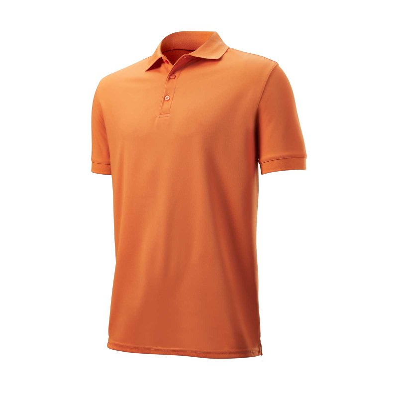 Wilson Authentic Polo Herren | orange M