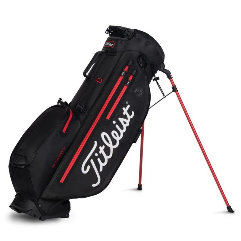 Titleist Players 4 Plus StaDry Stand-Bag | schwarz-rot