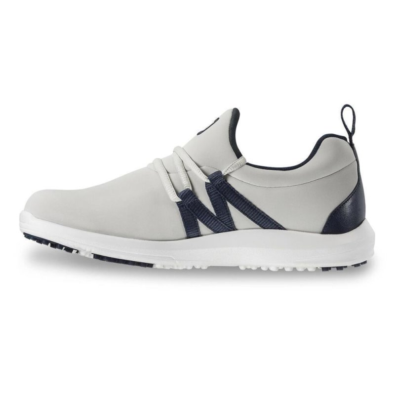 FootJoy Leisure Slip On Golf-Schuhe Damen | wide silber-blau EU 39