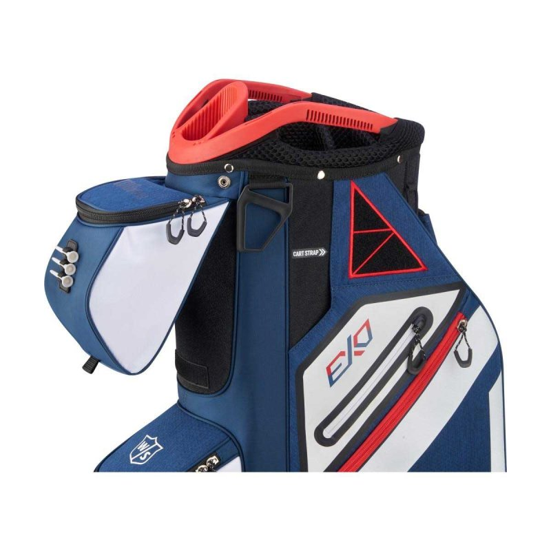 Wilson Staff Exo Cart-Bag | blau-rot weiß