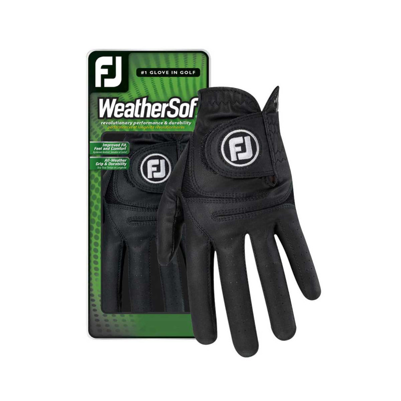 FootJoy WeatherSof Golf-Handschuh Damen   LH schwarz L