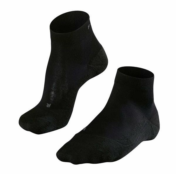 Falke GO2 Short Socken Damen | schwarz 37-38