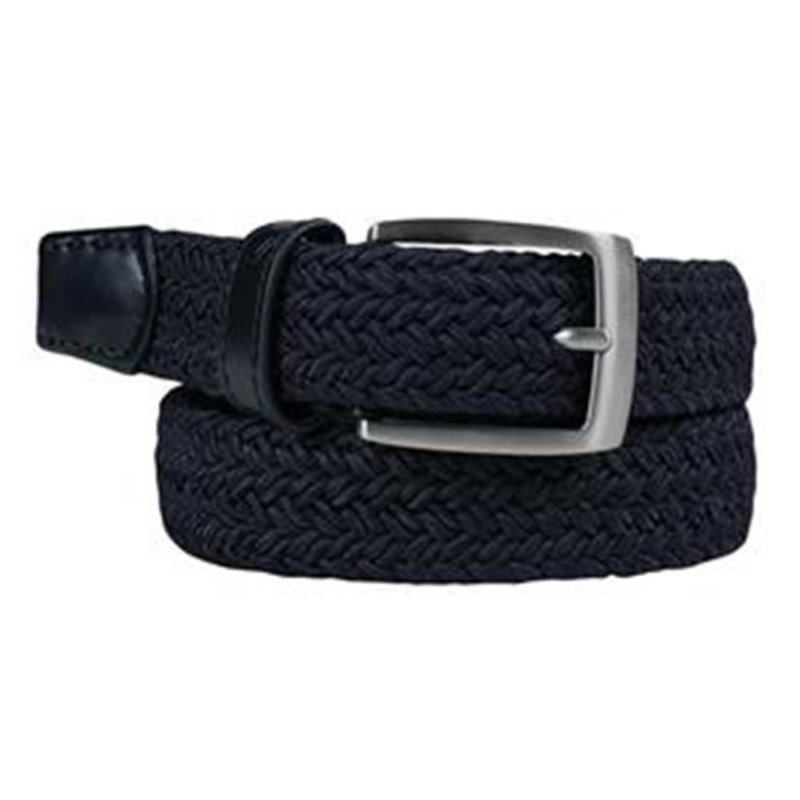 Alberto Basic Braided Gürtel Damen | navy 95