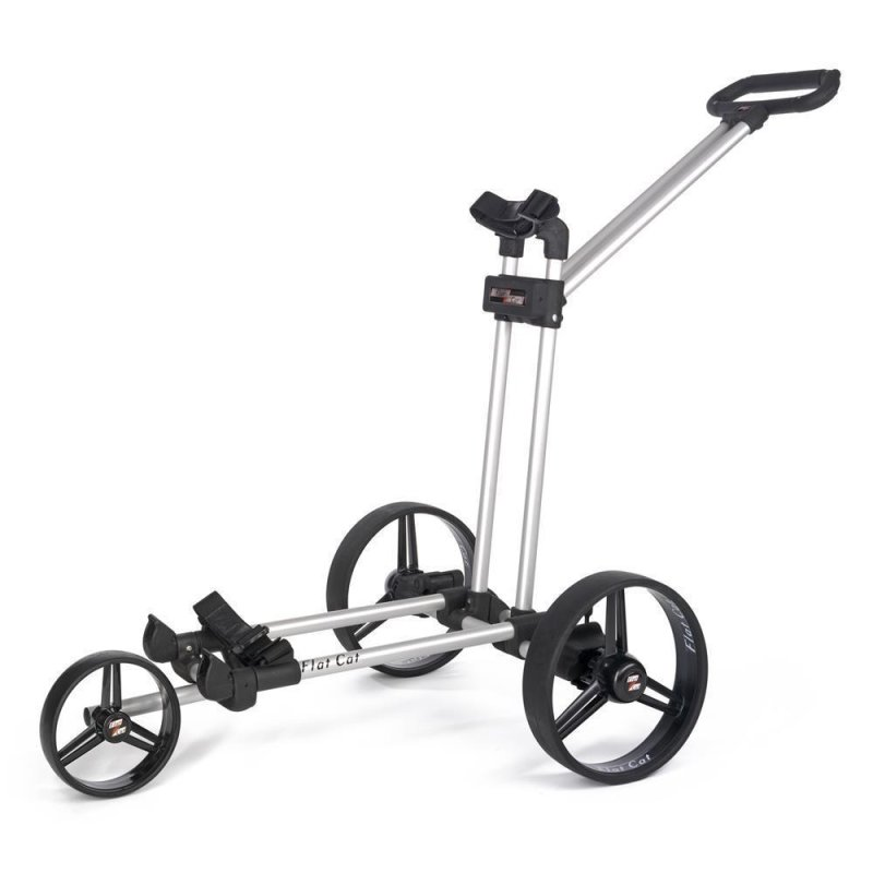 Flat Cat Push-Trolley 3-Rad | Silver