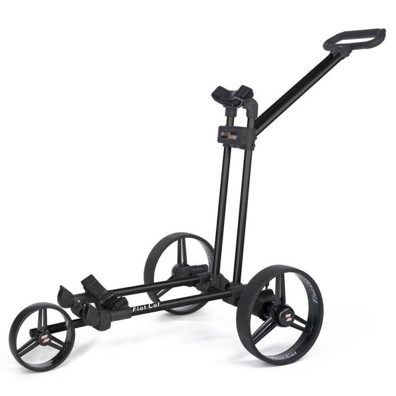 Flat Cat Push-Trolley 3-Rad   Black