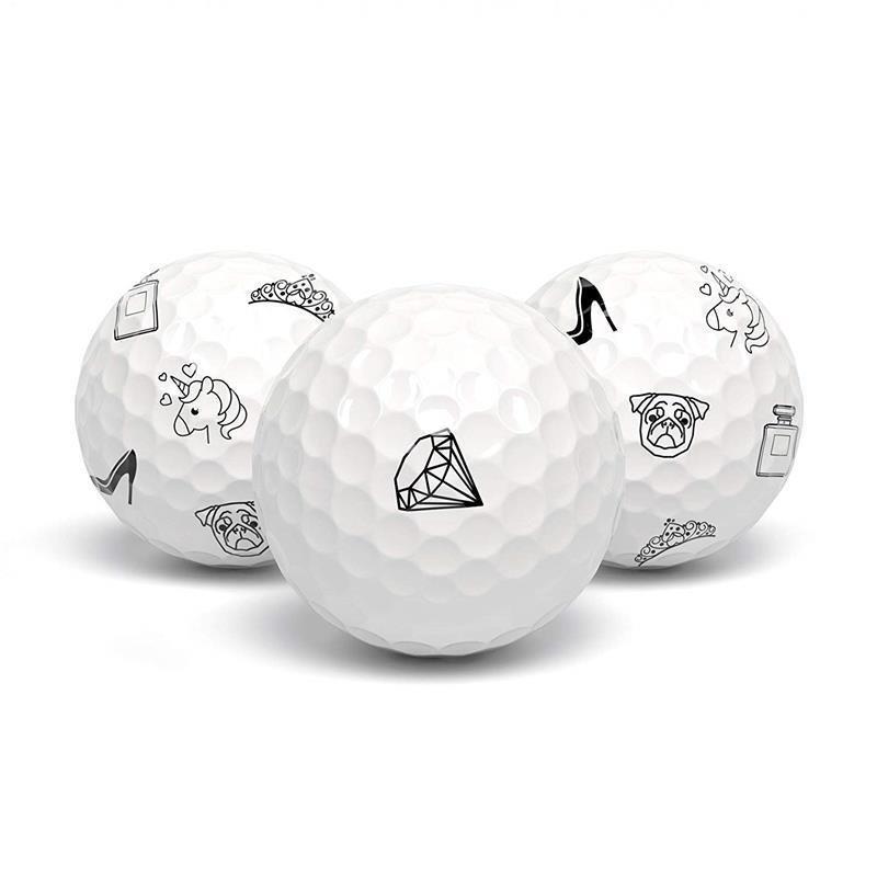 tageez Premium Golfball-Markierer   Tattoo zum Aufkleben   Motiv Damen