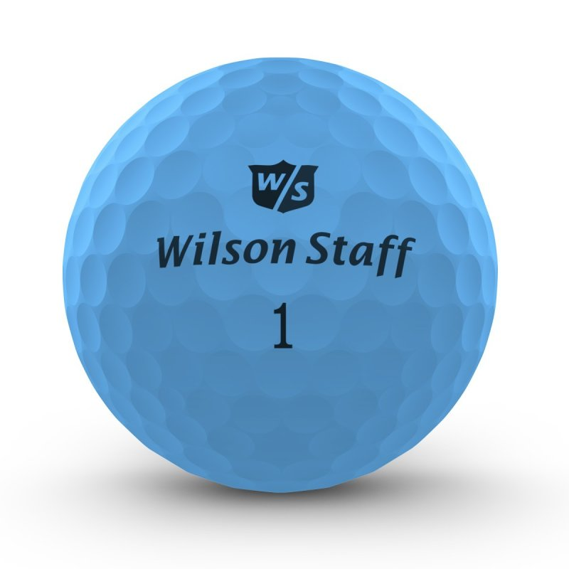 Wilson Staff DX2 Optix 2018 Golf-Ball | matt-blau 12er Pack