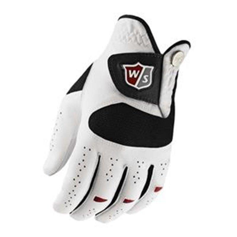 Wilson Staff Dual Performance Golf-Handschuhe Herren   LH weiß S