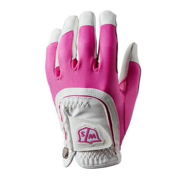 Wilson Staff Fit All Golf-Handschuh Damen | LH Pink-White one size
