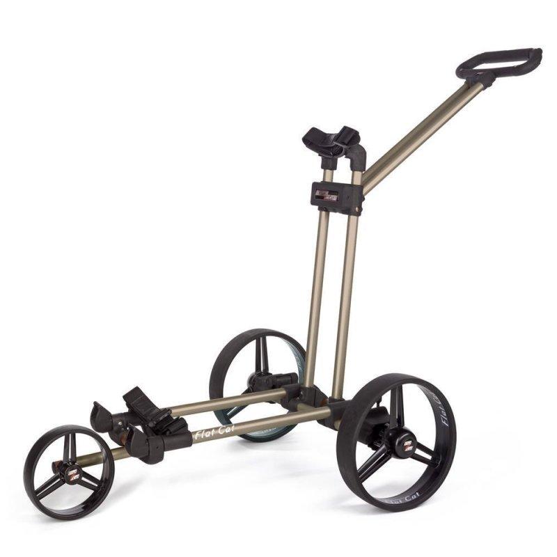 Flat Cat Push-Trolley 3-Rad | Gold-Bronze