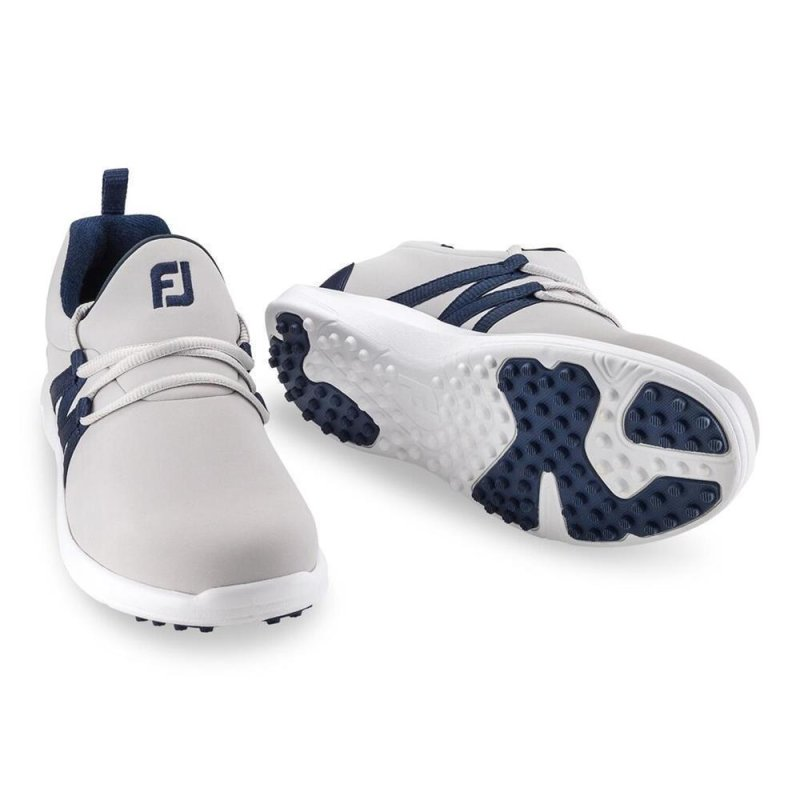 FootJoy Leisure Slip On Golf-Schuhe Damen | medium silber-blau EU 38