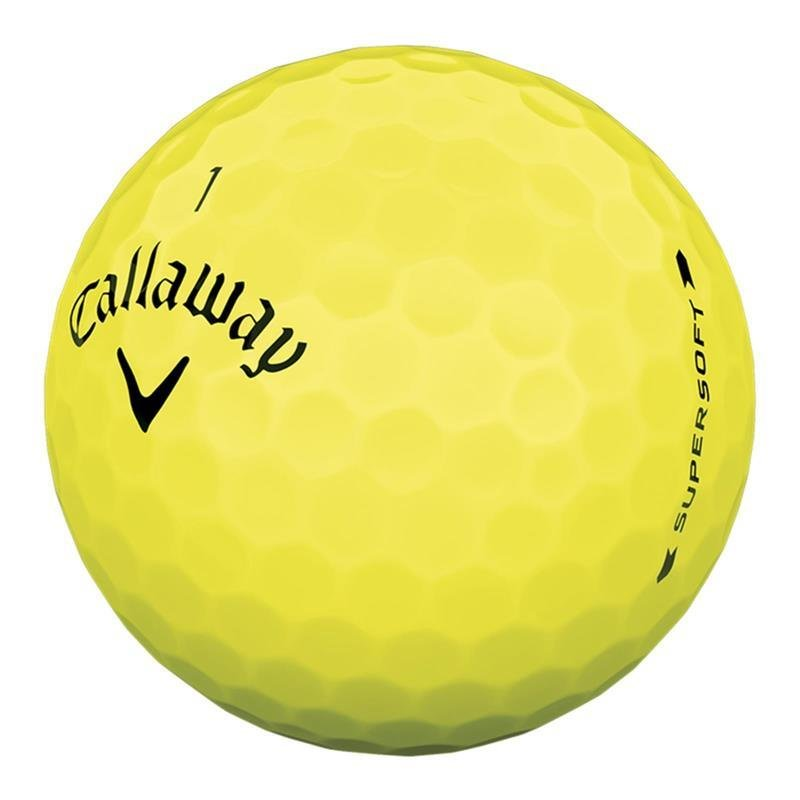 Callaway Supersoft 2019 Golfball | 3er Pack | gelb