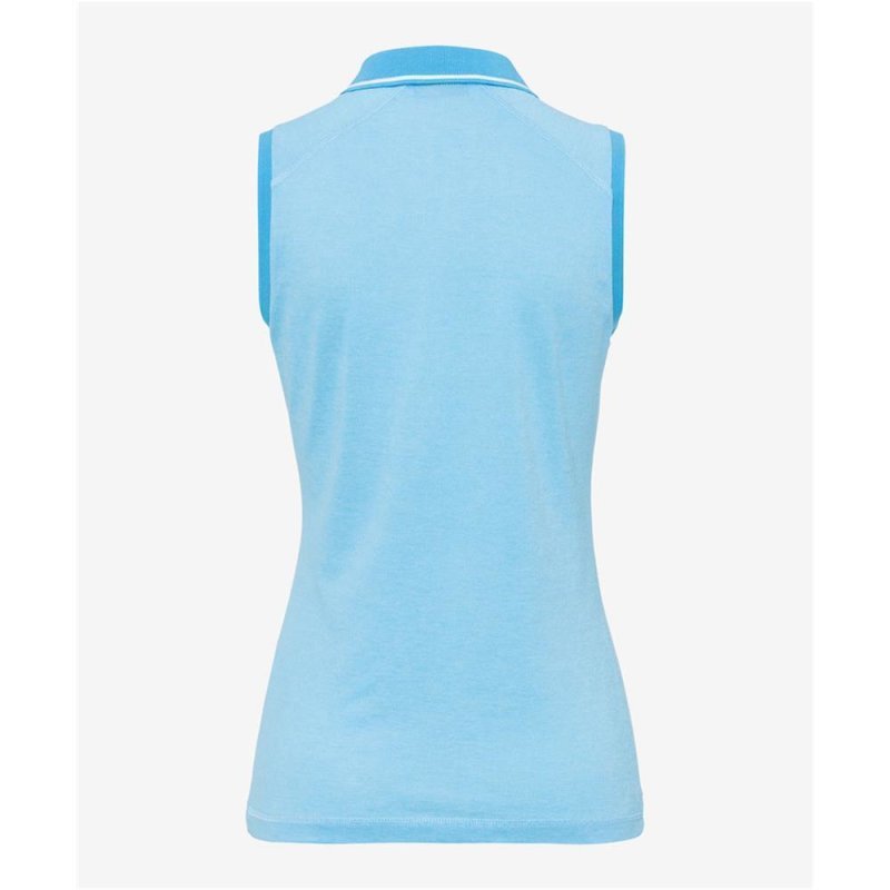 BRAX SABRINA Poloshirt Damen aus funktionalem Sports Cotton blau L