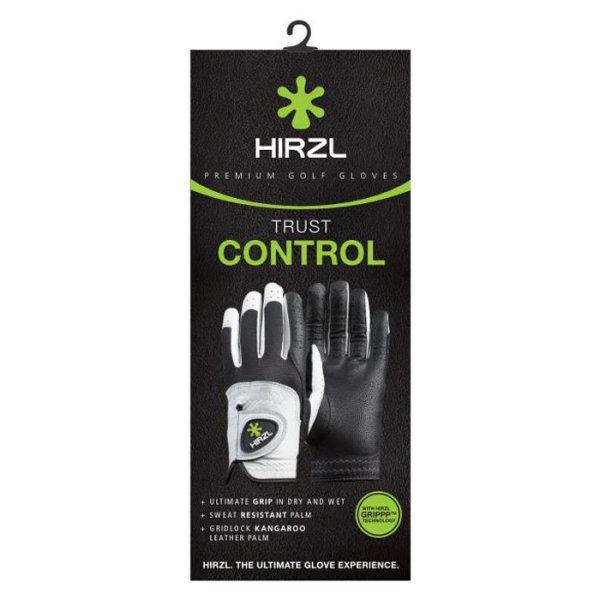 Hirzl Trust Control 2.0 Golf-Handschuh Herren   LH silberweiß-schwarz M