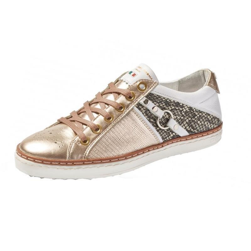 Duca Del Cosma Geneva Golf-Schuhe Damen | gold-weiß EU 42 Medium