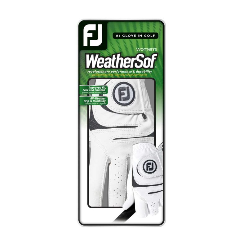 FootJoy WeatherSof Golf-Handschuh Damen | LH weiß ML