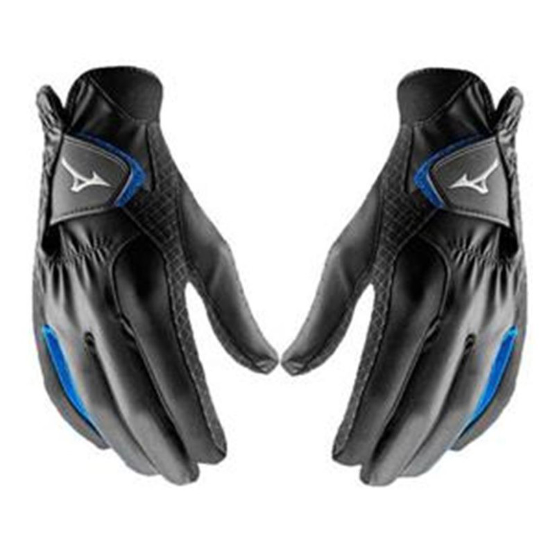 Mizuno RainFit Paar Golf-Handschuhe Herren | schwarz L