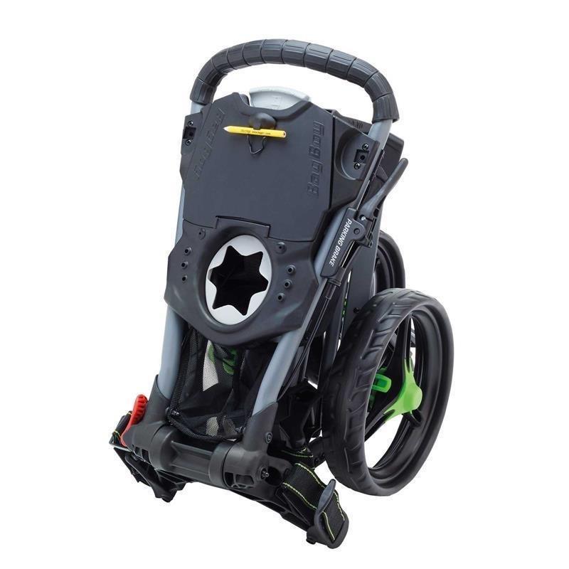 Bag Boy Tri Swivel II Push-Trolley 3-Rad | silber-schwarz