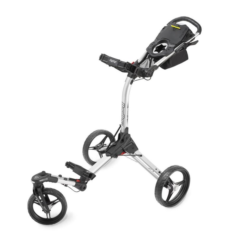 Bag Boy Tri Swivel II Golf-Trolley 3-Rad | silber-schwarz