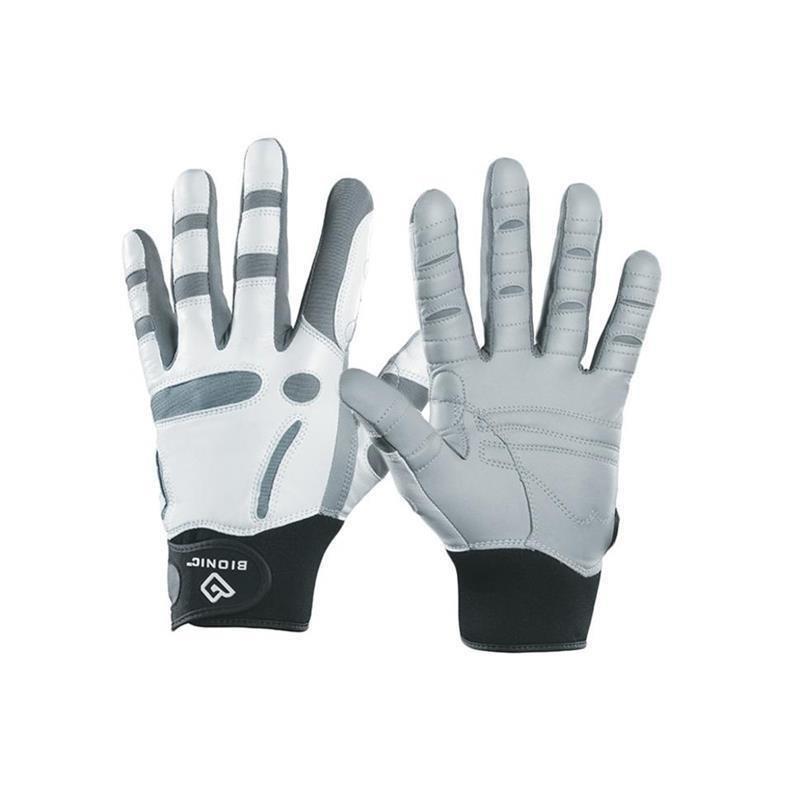 Bionic ReliefGrip Golf-Handschuh Herren   LH weiß-grau, schwarz S