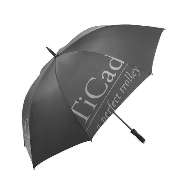 TiCad Standard Golf-Schirm   schwarz mit Stift