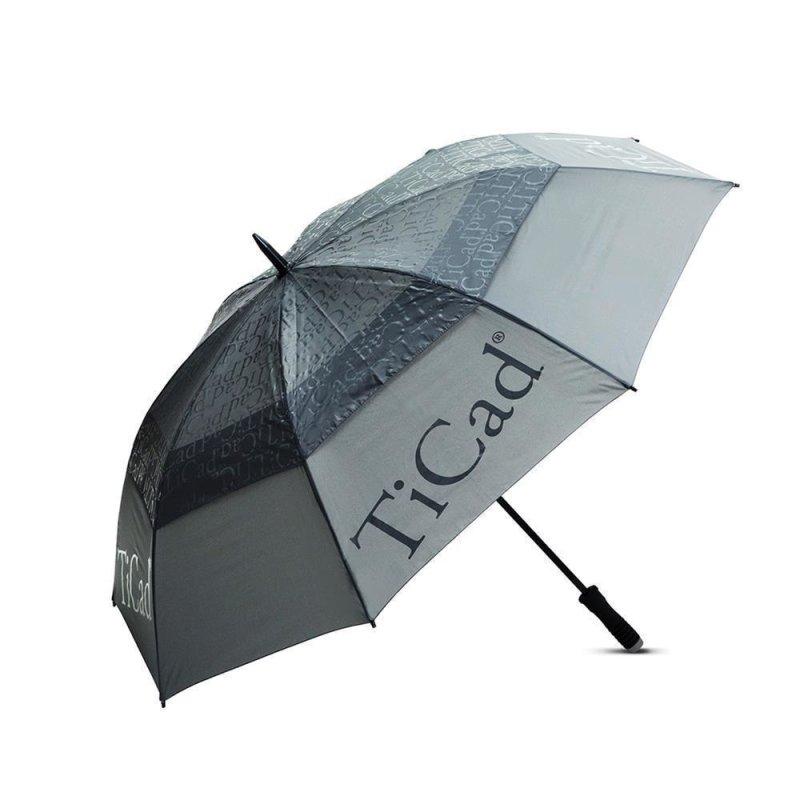 TiCad Windbuster Golf-Schirm | grau mit Stift