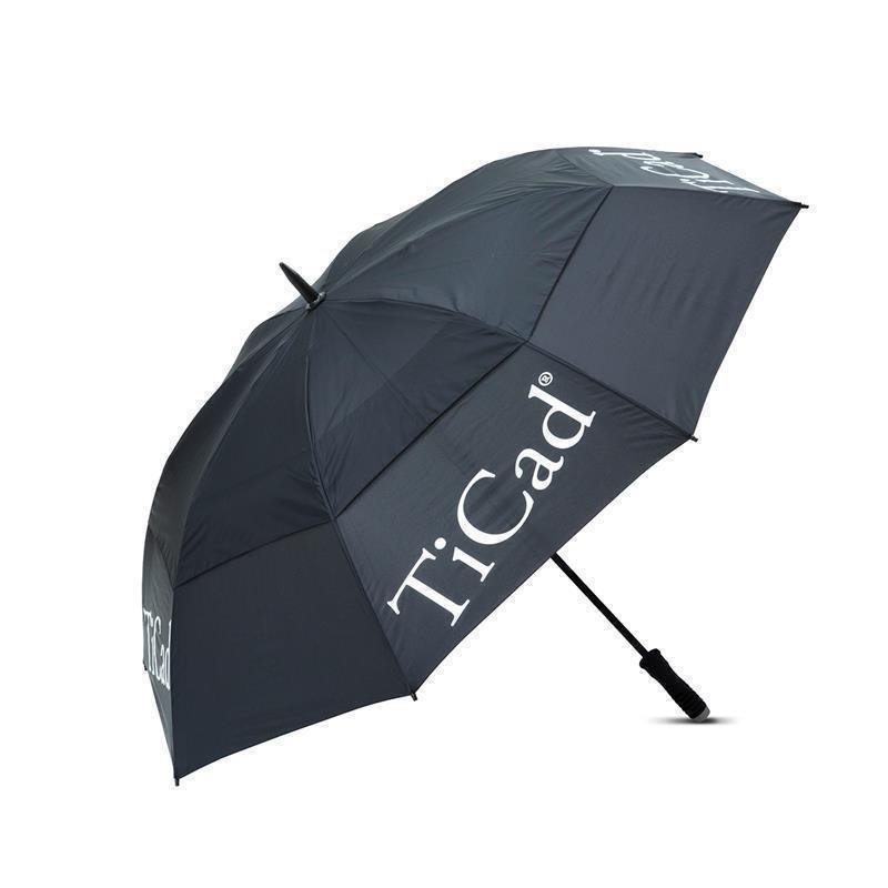 TiCad Windbuster Golf-Schirm   schwarz mit Stift