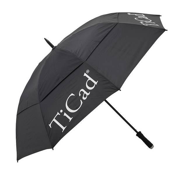 TiCad Windbuster XXL Golf-Schirm | schwarz mit Stift