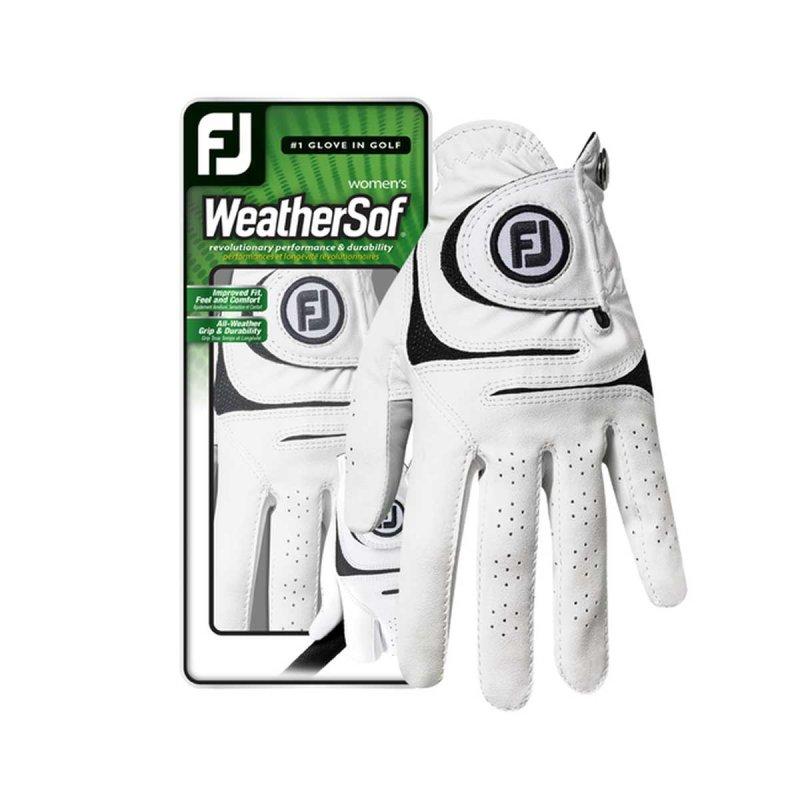 FootJoy WeatherSof Golf-Handschuh Damen   RH weiß M