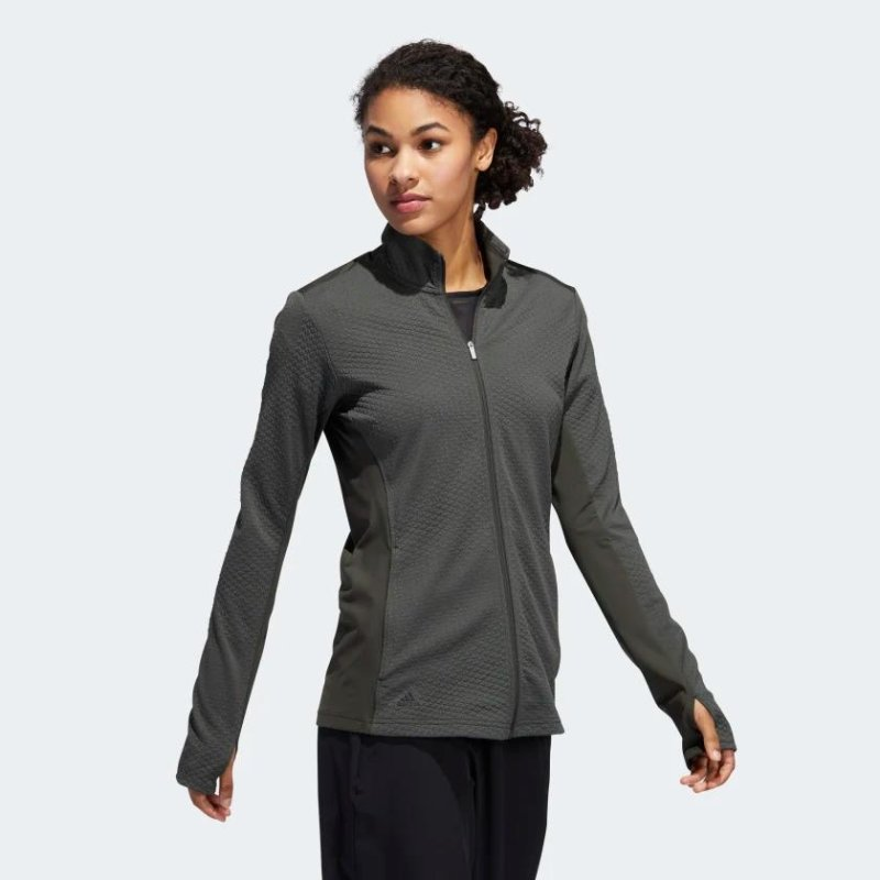 Adidas Layered Jacke Damen | oliv L
