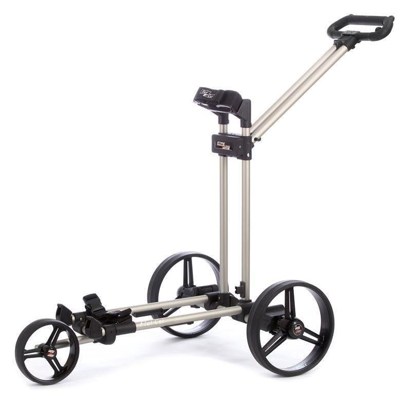 Flat Cat Push-Trolley 3-Rad | Brushed Silver