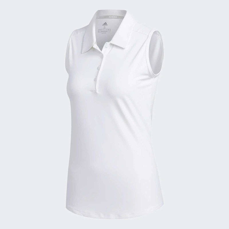 Adidas Ultimate365 Sleeveless Poloshirt Damen | WHITE XL