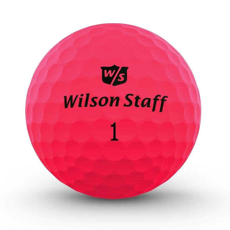 Wilson Staff DX2 Optix 2018 Golfball | 12er Pack | matt-pink