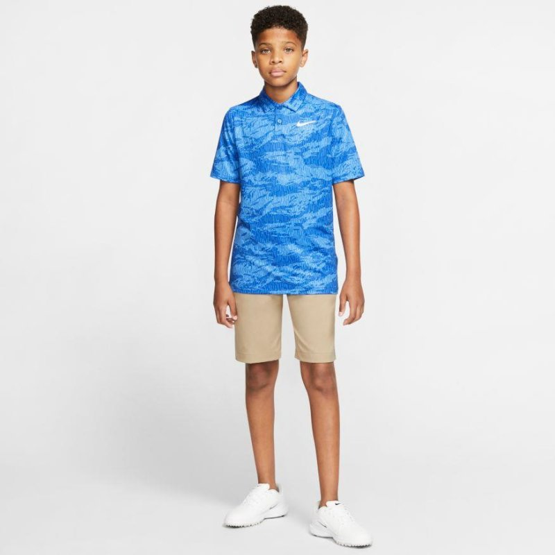 Nike Dri-FIT Printed Golf Polo Jungen | game royal white M