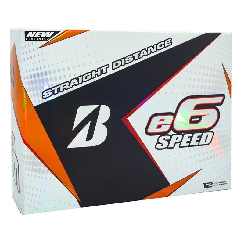 Bridgestone e6 Speed 2017 Golfball | 12er Pack | weiß