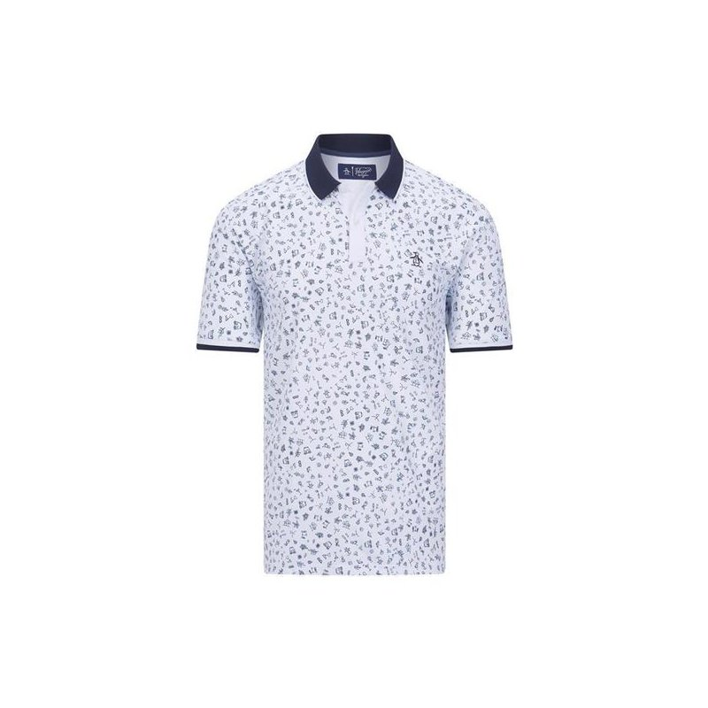 Penguin-Golf Clubhouse Printed Polo Herren