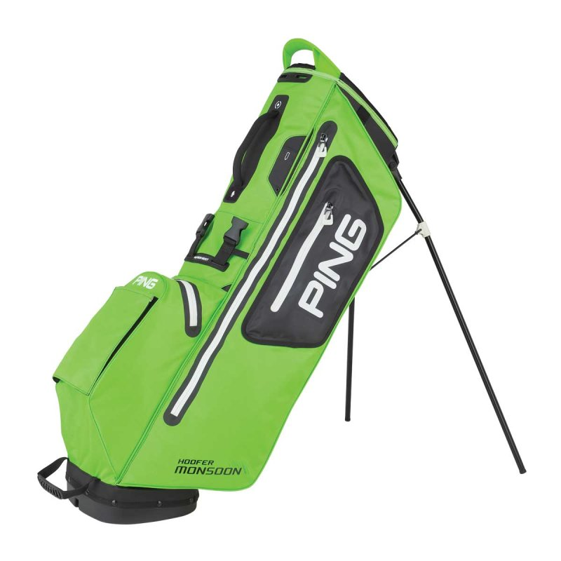 Ping Hoofer Monsoon Stand-Bag | electric lime green-black