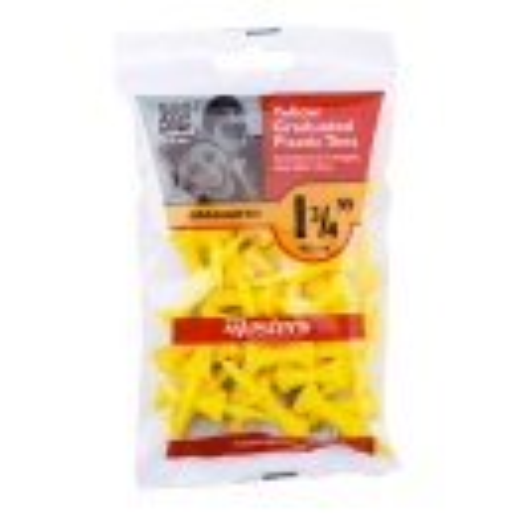 Masters Graduated Kunststoff-Tees   1 3/4 30 Stück gelb
