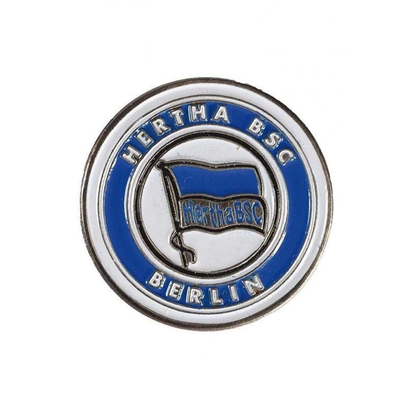 Hertha BSC Ballmarker 1 Stück   weiß-royalblau